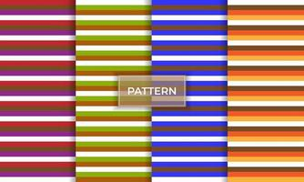 Pattern chevron seamless collection background vector