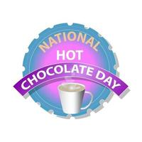 National Hot Chocolate Day Sign vector