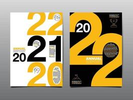annual report 2021-2022, business template layout design