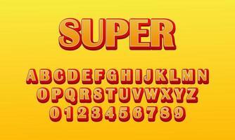 text effect super font alphabet vector