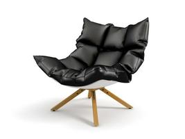Armchair isolated on a white background in 3D rendering