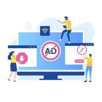 Adblock illustration vector concept