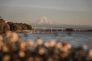 Mt Hood over the Columbia River photo