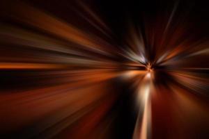 Road at night long-exposure