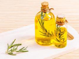Fresh rosemary oil photo