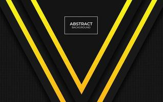 Design presentation Background yellow and black vector