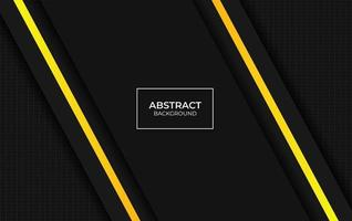 Presentation yellow and black design background vector