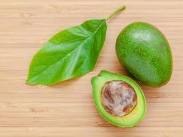 Avocado on a wood background