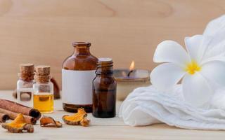 aceite de masaje de aromaterapia foto
