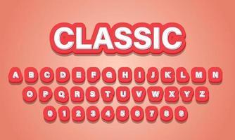 text effect classic font alphabet vector