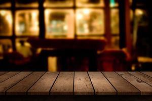 Table in a dark restaurant