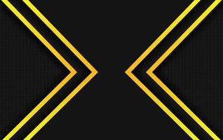 Backgroun presentation yellow and black design vector