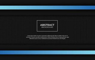 Modern abstract blue and black background design vector