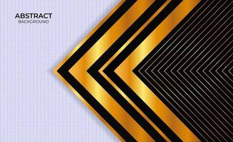 Design Background Black And Gold Abstract Presentation vector