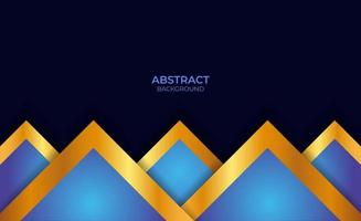 Abstract Blue And Gold Presentation Background vector