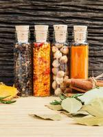 Cooking spice bottles photo