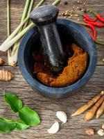 Ground red curry paste photo