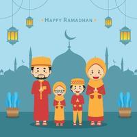 Happy Ramadhan Background vector