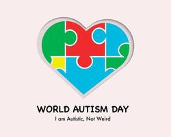 World Autism Day In Paper Style vector
