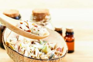 Dried lemongrass for alternative healthcare photo