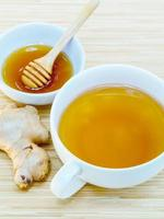 Ginger and honey herbal tea