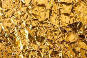 Crinkled gold texture photo