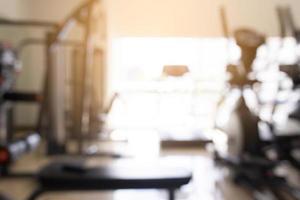 Blurred gym background