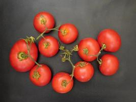 Tomatoes on a dark background