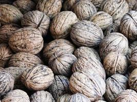 Pile of whole walnuts