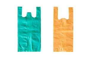 Plastic bags isolated on a white background, world environment concept