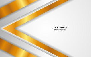Design Abstract White And Gold Style vector
