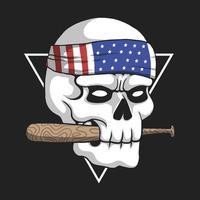 Skull USA gangster illustration vector