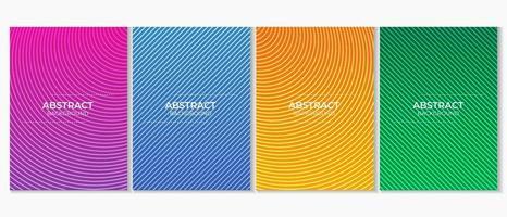 Abtract Colorful Minimalist Gradient Design vector