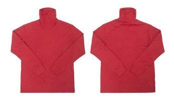 camisa de cuello alto roja