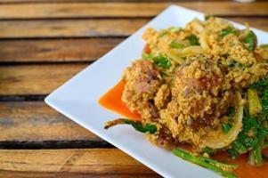 plato de cangrejo de caparazón blando foto