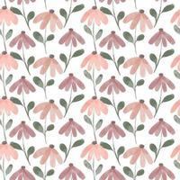 seamless pattern watercolor cute petal flower vector