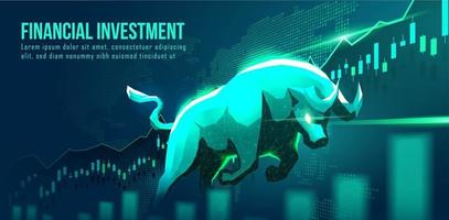 Concept art of bullish financial investment vector