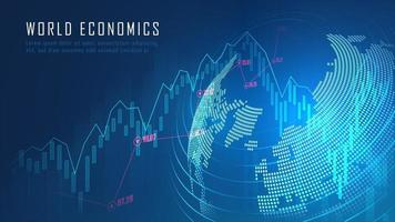 Global financial in graphic concept vector