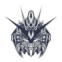 head inking illustration artwork vector