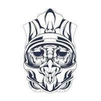 helmet satan inking illustration artwork vector