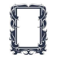 ornamento marco entintado ilustración obra de arte vector