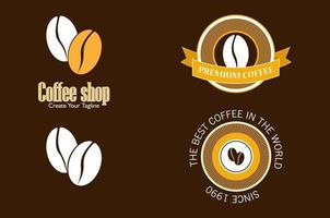 logos de cafeteria vector