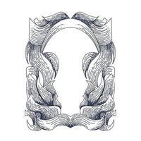 ornament frame vintage inking illustration artwork vector