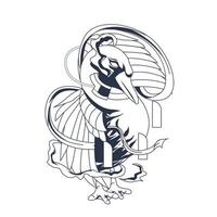 goose inking illustration artwork vector