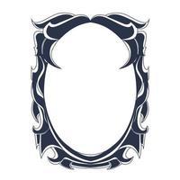 ornament frame inking illustration artwork vector