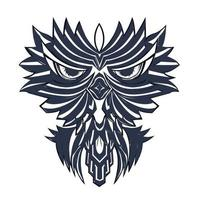 cute owl inking illustration artwork vector