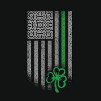 bandera celta americana día de san patricio vector
