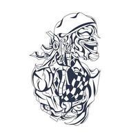 culture indonesian inking illustration artwork vector