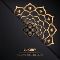 Arabis style islamic mandala pattern background vector