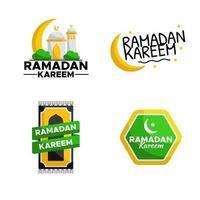 Vector sticker of Ramadan Kareem greeting